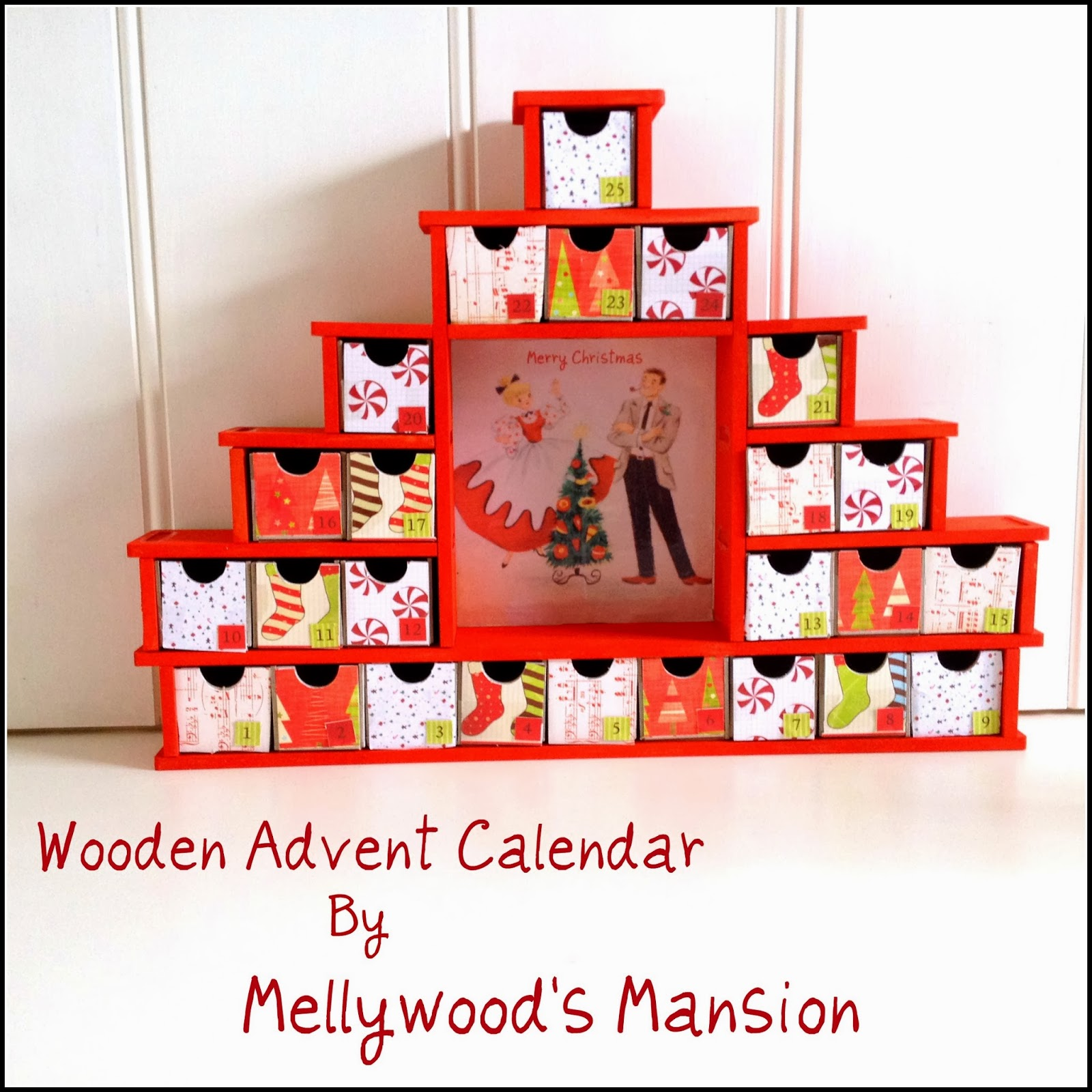 Self Made Calendar Photo : Our pinteresting family wooden advent calendar by