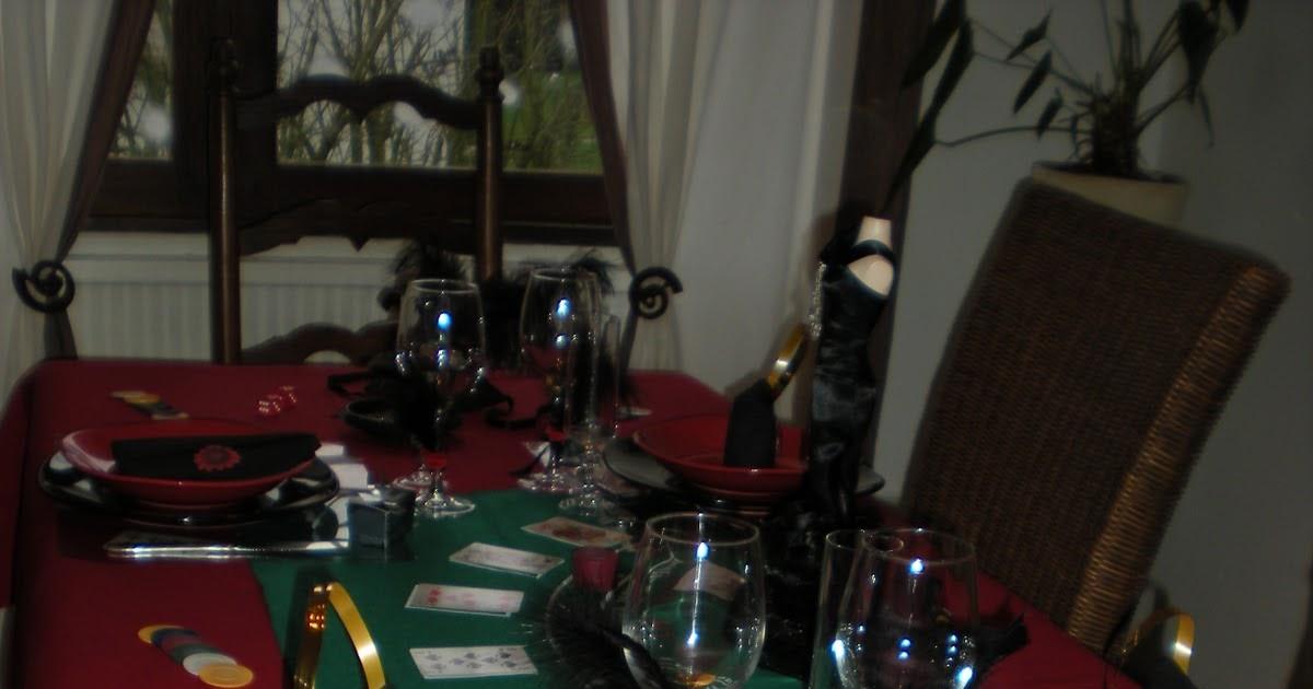 D co de table th mes nouvel an sur le th me jeux de - Table de nouvel an deco ...