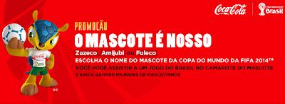 PROMOÇÃO O MASCOTE É NOSSO COCA-COLA 2012