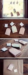 Etiquetas en forma de Bolsitas de Té imprimibles