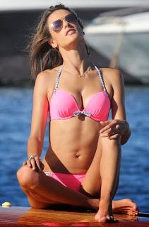 Alessandra Ambrosio Pink Bikini Saint Tropez