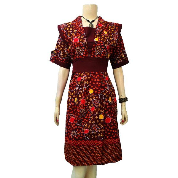 ungu berat 3 ons produksi rumah batik jogja dress batik wanita modern