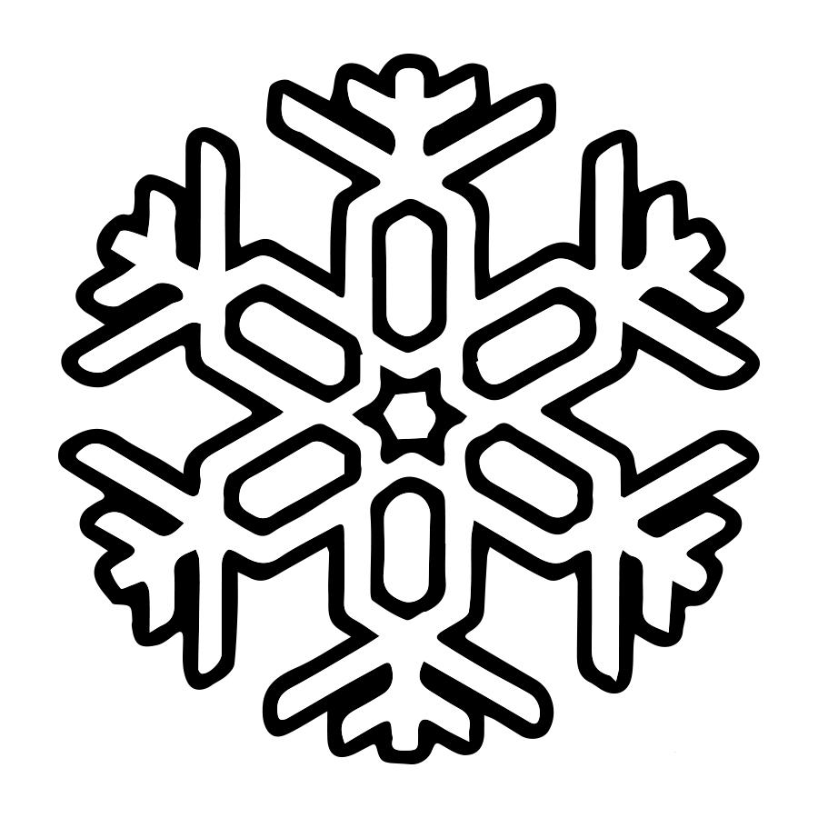 COLOREA TUS DIBUJOS: Copo de Nieve para colorear y pintar