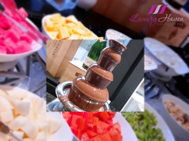 concorde hotel spices cafe buffet chocolate fondue review