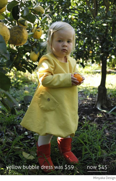 Minyaka Design yellow bubble dress winter
