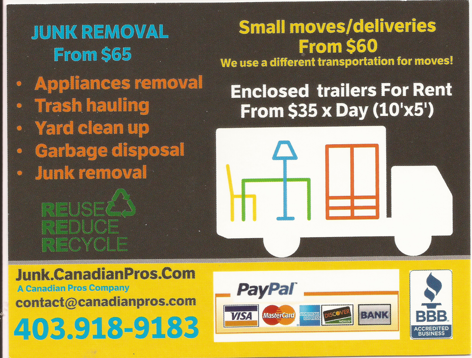 calgary flyer delivery junk removal flyer cp junk middot window cleaning