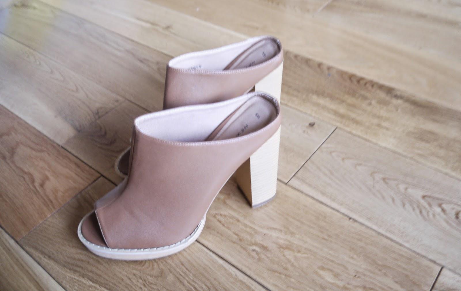 New Look Tan Block Heel Mules
