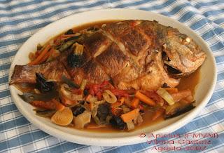 La cocina de cada d a 143 men pescado con verduras con - Arroz con pescado y verduras ...