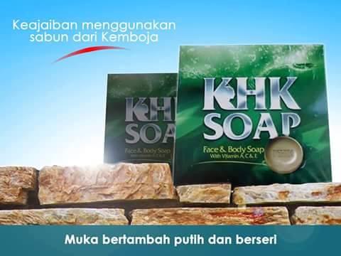 khk soap, khk face and body soap, sabun herba kemboja, shk