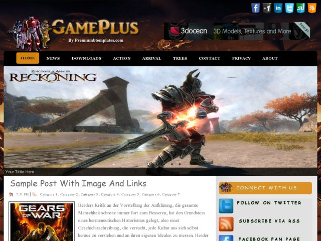 Game Plus Blogger Template