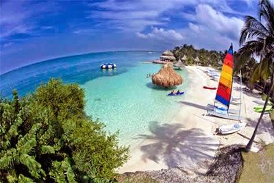 Playa en el pais de Colombia
