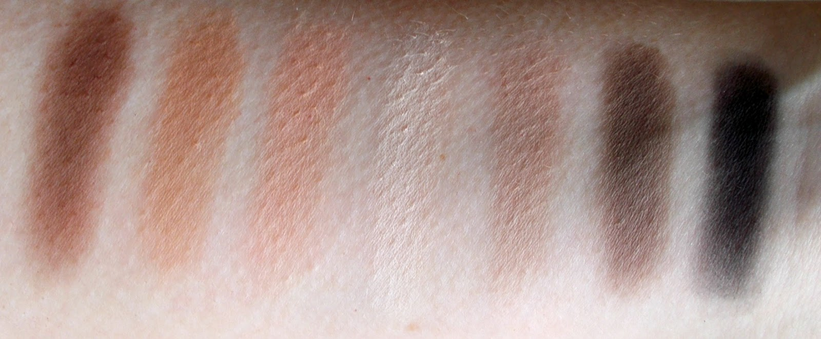 Smashbox full exposure palette bottom row matte swatches
