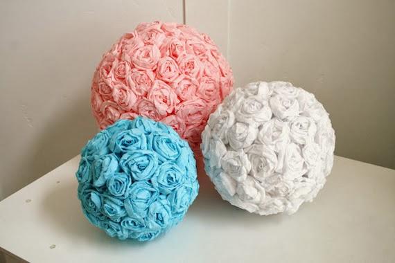 Bolas decorativas de flores