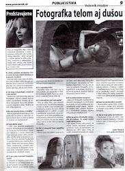 Interview in newspaper Prešovský Večerník