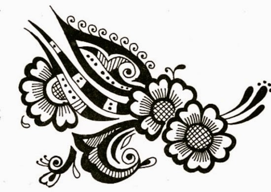 Mehndi Elephant Coloring Pages : Mehndi design drawing simple designs awesome how