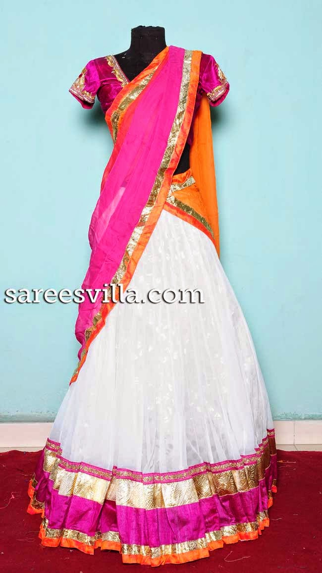 Stylish designer half saree