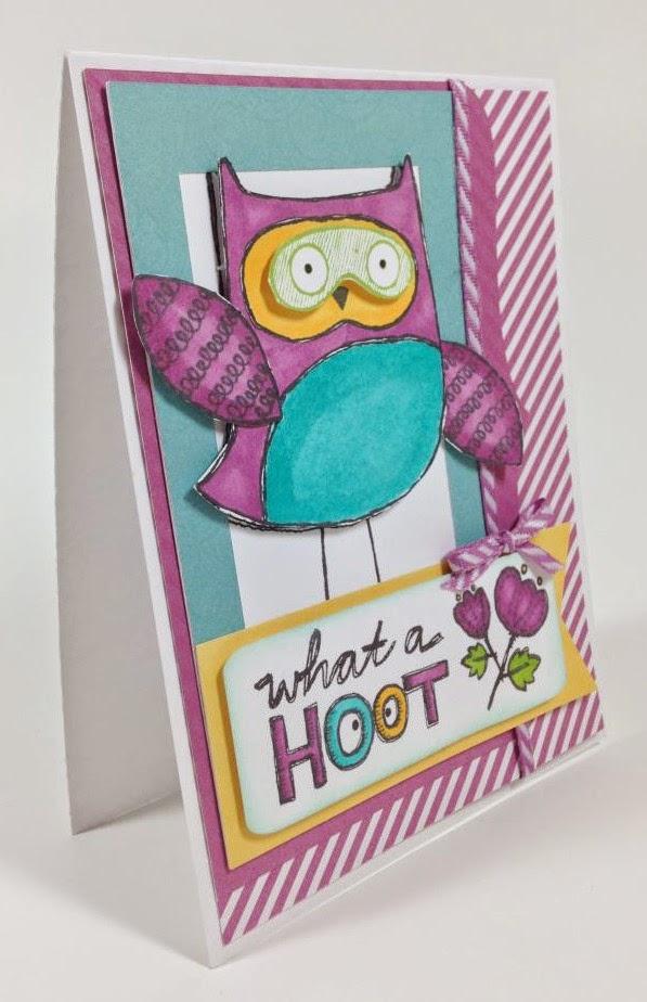 Cricut Artbooking Hoot Owl card side view