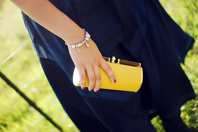 Mollie Day Adelaide Yellow Clutch