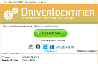 برنامج DriverIdentifier لتحديث تعريفات الكمبيوتر القديمة