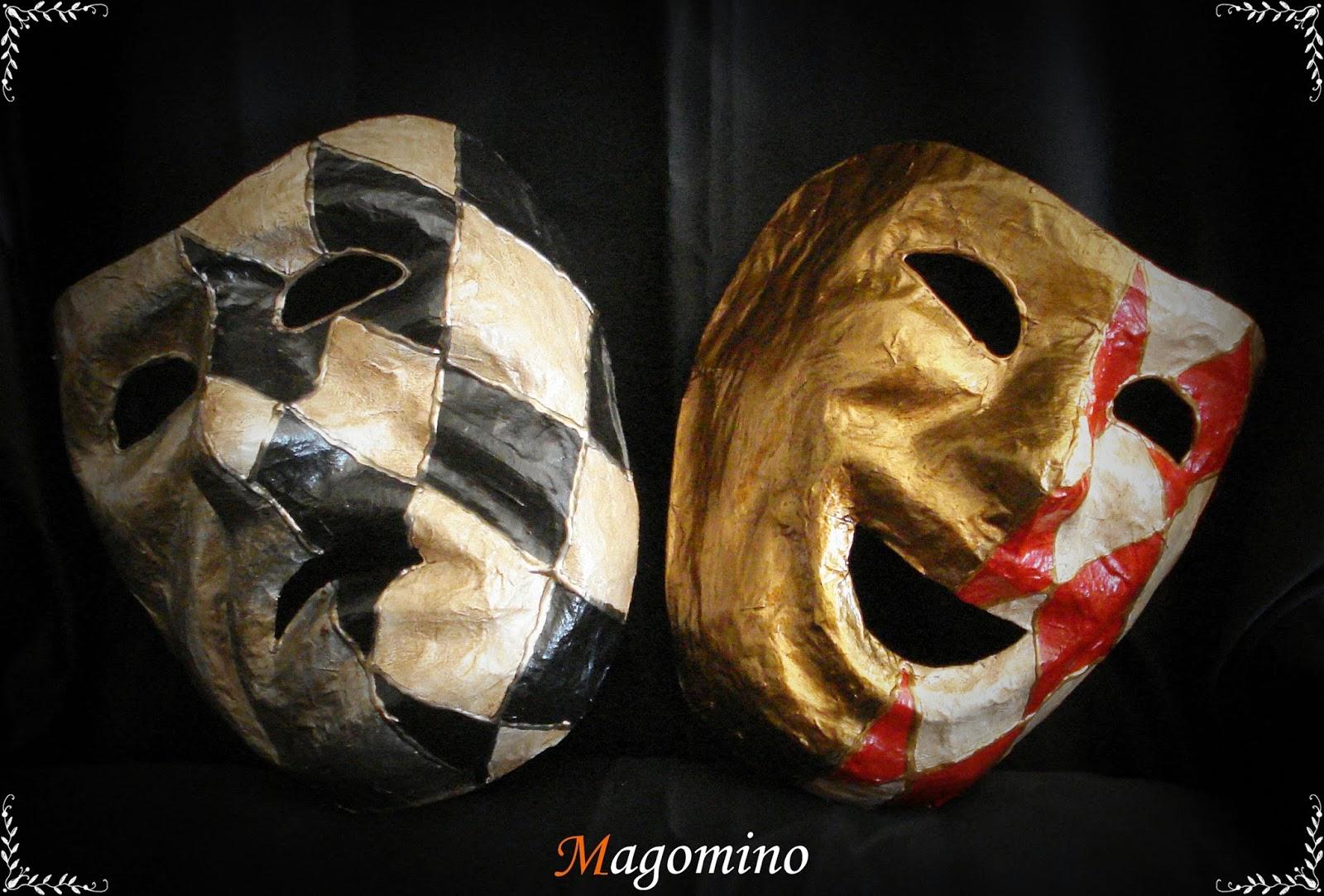 M scaras artesanales m scaras de la tragicomedia hechas - Mascaras venecianas decoracion ...