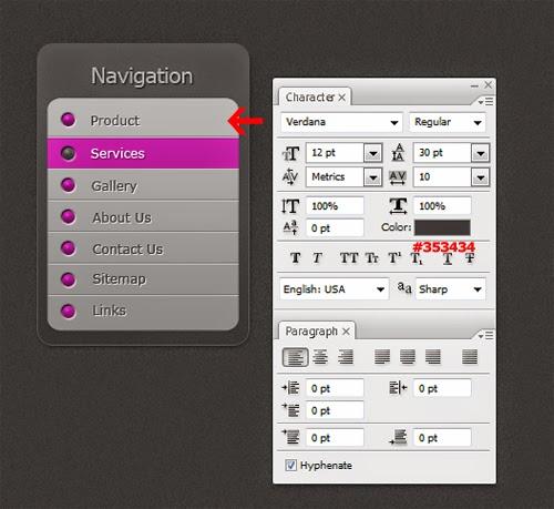 Create an OS X Vertical Menu In Photoshop