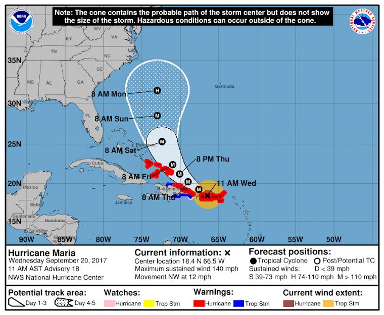 Así azota María a Puerto Rico..