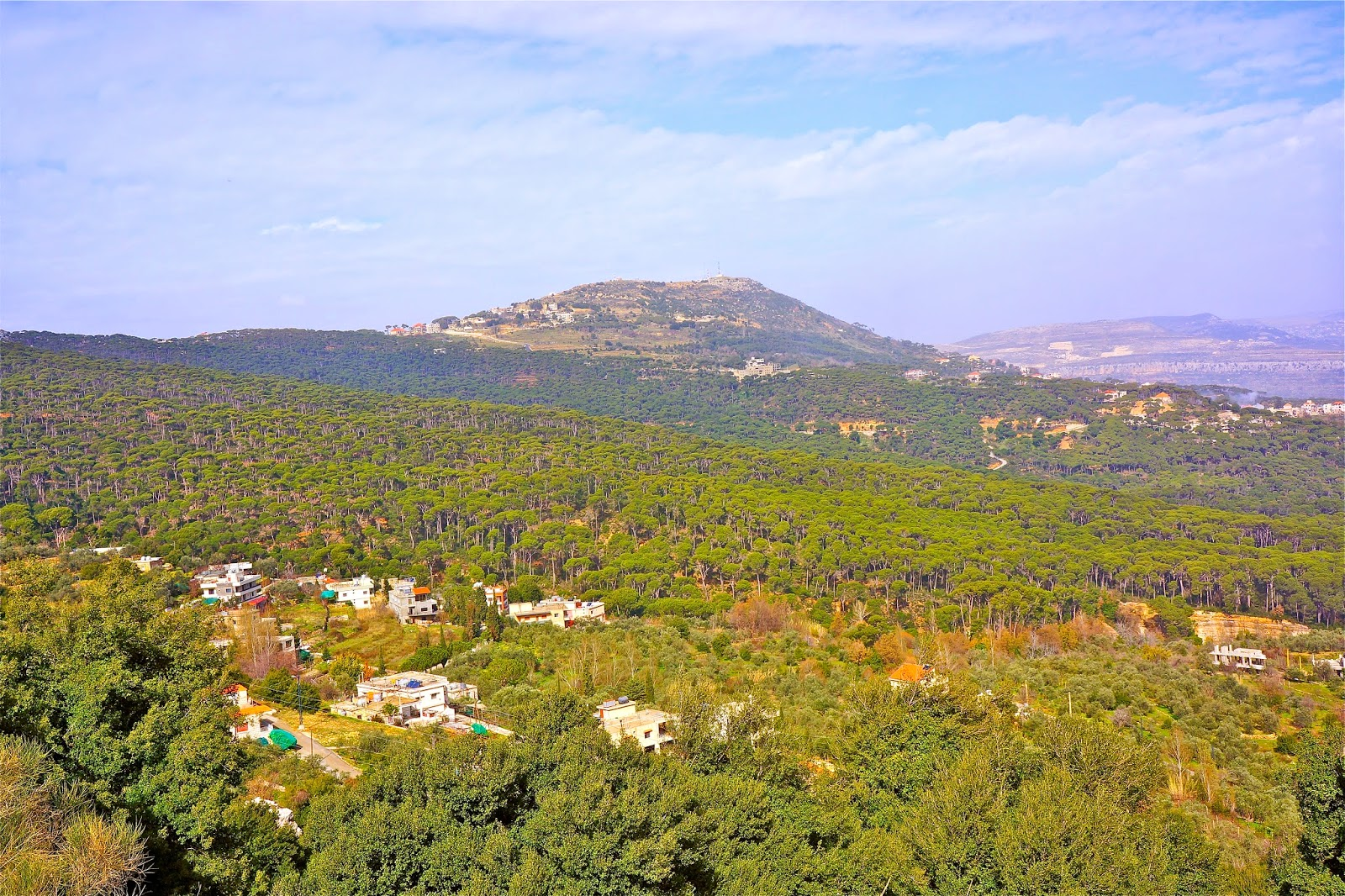 Picture of the mountains in the Jezzine area of South Lebanon.