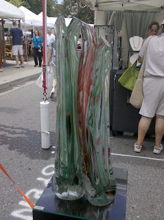 art glass sculpture, blown glass