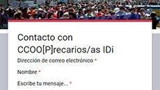 Contactar con CCOO[P] IDi