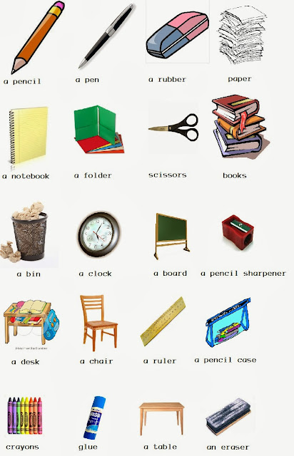 It 39 s an awesome school classroom objects for 10 objetos del salon en ingles