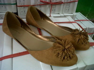 Aneka model sepatu sandal wanita murah,model sepatu wanita  APRICOT