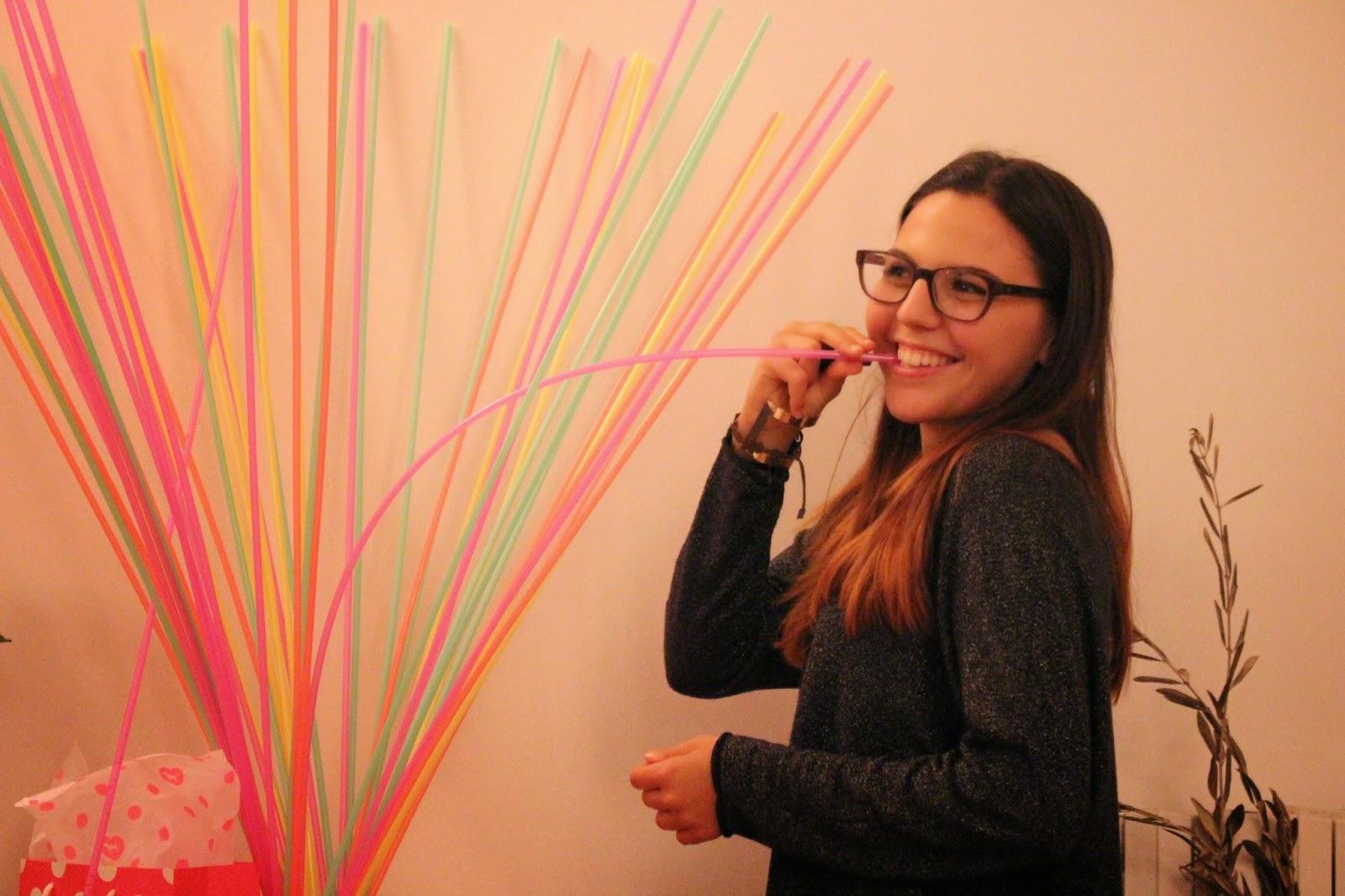 Giant Neon Straws