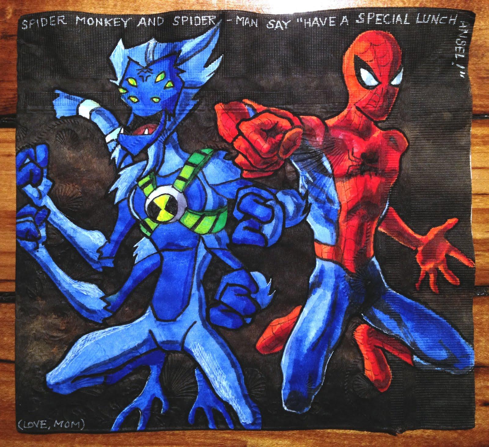 Daily Napkins: Spidermonkey & Spider-Man