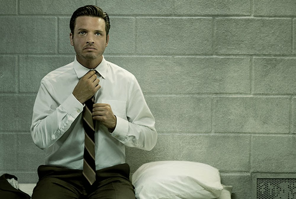 Daniel Holden el día de su salida de prisión,una de las primeras escenas de Rectify
