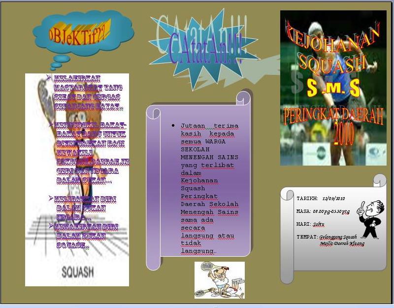 Di sini satu lagi contoh brosur yang sesuai menggunakan Microsoft Word ...