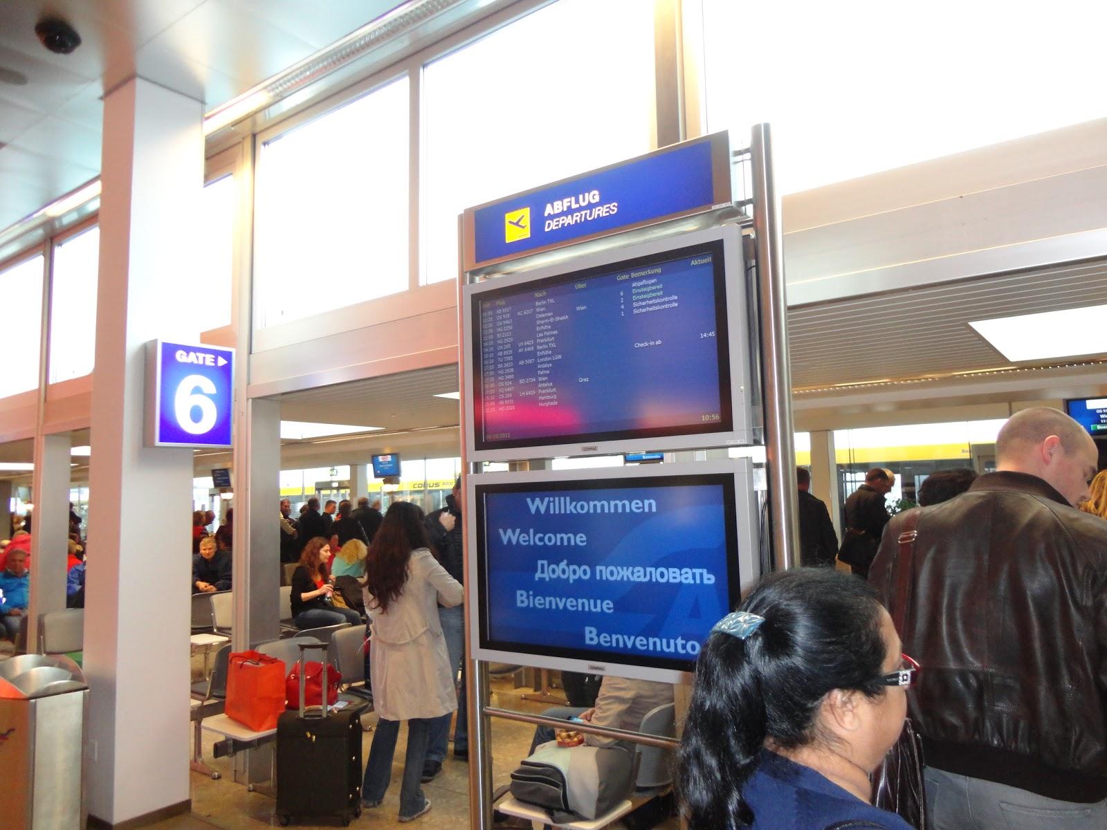Departure Lounge at WA Mozart Airport Salzburg Austria