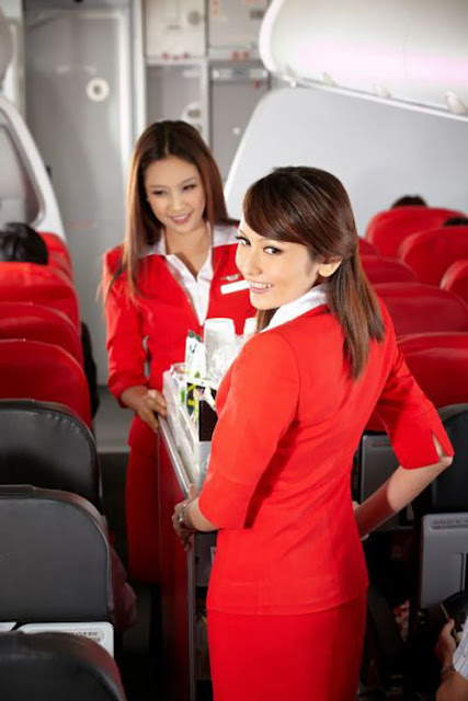 The Uniform Girls: [PIC] Air Asia Air Hostess uniform girls 2