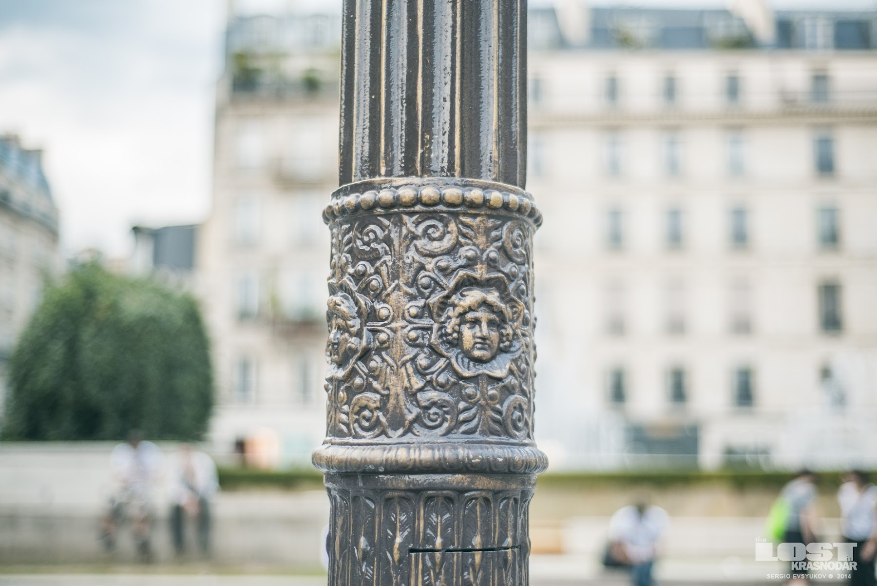 decoration on a pillar in Paris