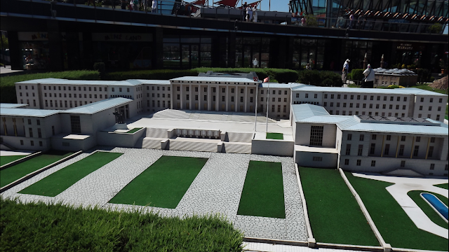 A scale model of Topkapi Palace in Miniaturk Gezisi park.