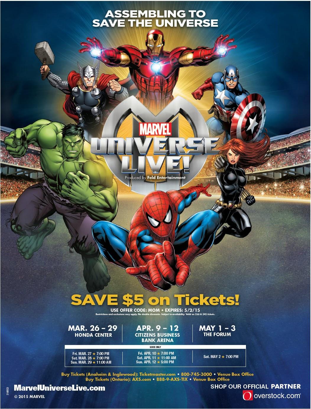 MUL%2BMOM%2BFlyer Save $5 On Marvel Universe Live Tickets
