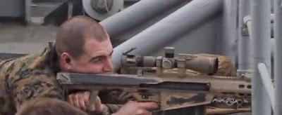 USMC Scout Sniper vs Small Boat