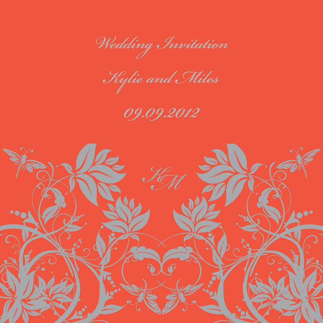 Use set the tone for your wedding from the beginning and use Tangerine Tango