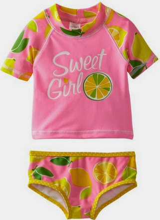 We have the newest in kids swimwear looks for the beach or the pool, in plenty of sizes, including baby girls swimsuits, infant girls swimsuits, toddler girls bathing suits, size x girls swimsuits and size girls swimsuits.