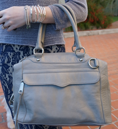 Away From The Blue Rebecca Minkoff Soft Grey Morning After Mini MAM Bag