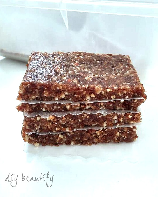 homemade date and nut bars
