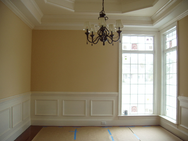 Rooms bloom living room and dining room panelling for Dining room paneling