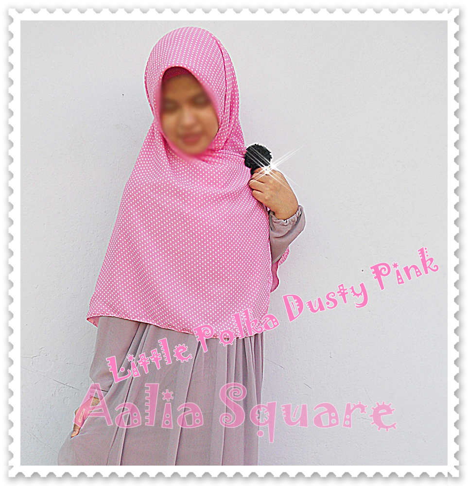 KAMILA MUSLIMAH CLOTHING AALIA SQUARE HIJAB LITTLE POLKA SERIES