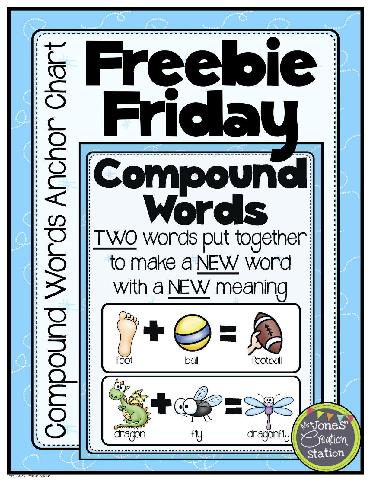 mrs jones creation station freebie friday compound