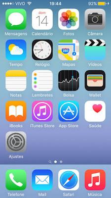 Papel de parede dinâmico do iOS 9 desativado