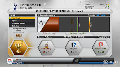FIFA 13 Ultimate Team Single Player Seasons - FUT 13